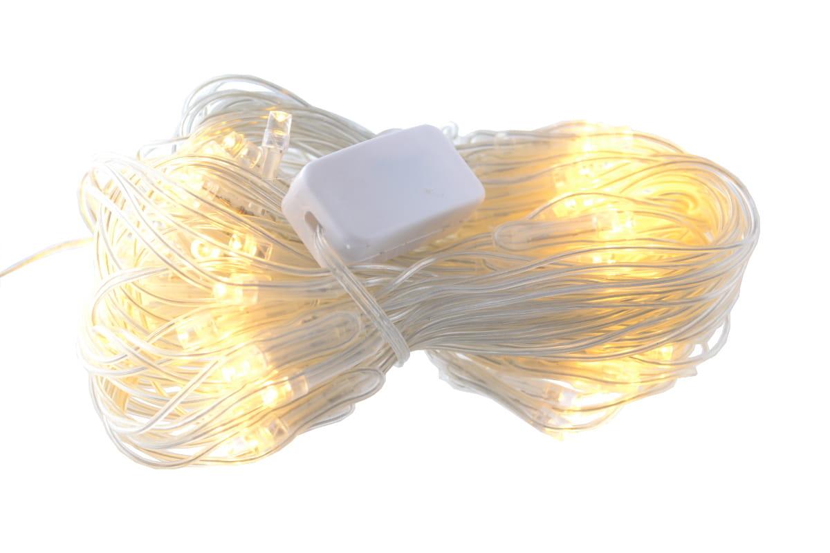 Lampki Choinkowe Siatka Kurtyna 80 Led Biały