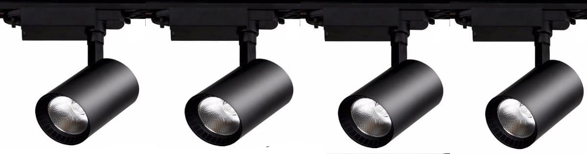 110 Zestaw 3 Reflektory Led 30w Sklepowe Szyna 3m 1